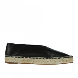ESPADILLAS NERA IN PELLE
