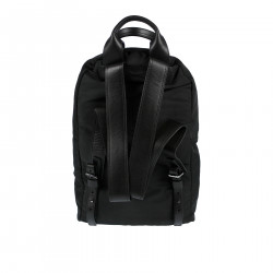 BLACK CANVAS BACKPACK WITH STUDS