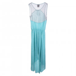 LIGHT BLUE WATER PERFORATED DRESS
